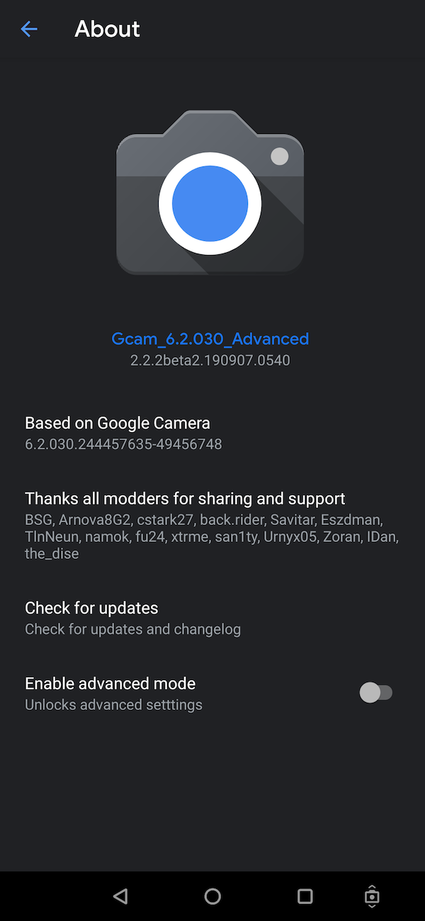 Gcam_6.2.030_Advanced_V2.2.2beta2.190907.0540.apk