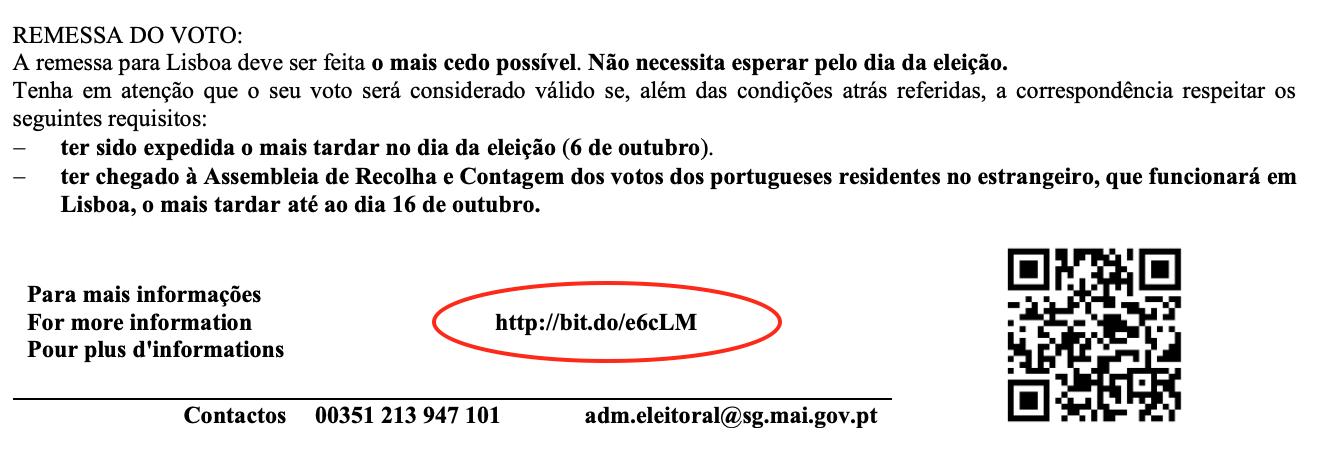 Voto Postal URL