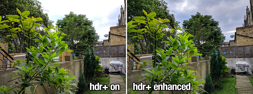 HDR+ On vs HDR+ Enhanced
