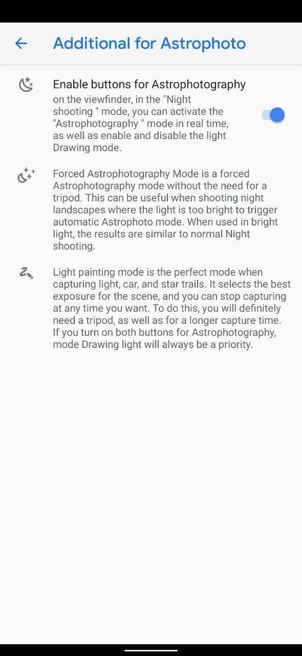 Screenshot Google Camera