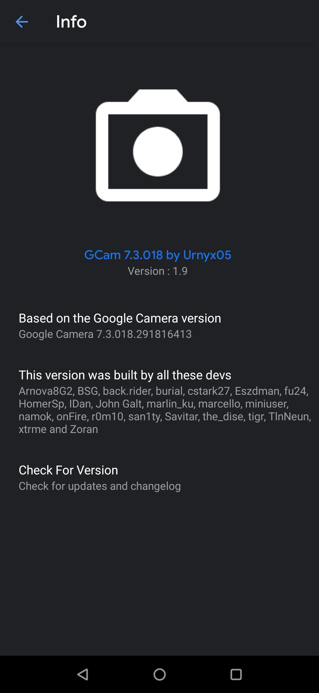 Google Camera Urnyx05 1.9