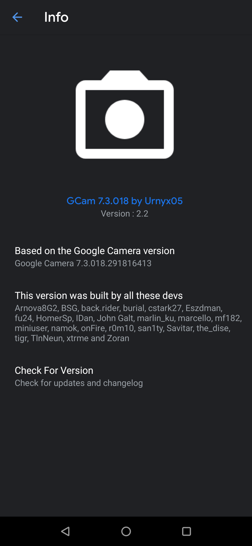 Urnyx05 GCam 7.3 v2.2