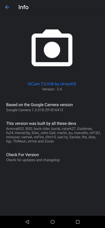 Urnyx05 GCam 7.3 v2.4
