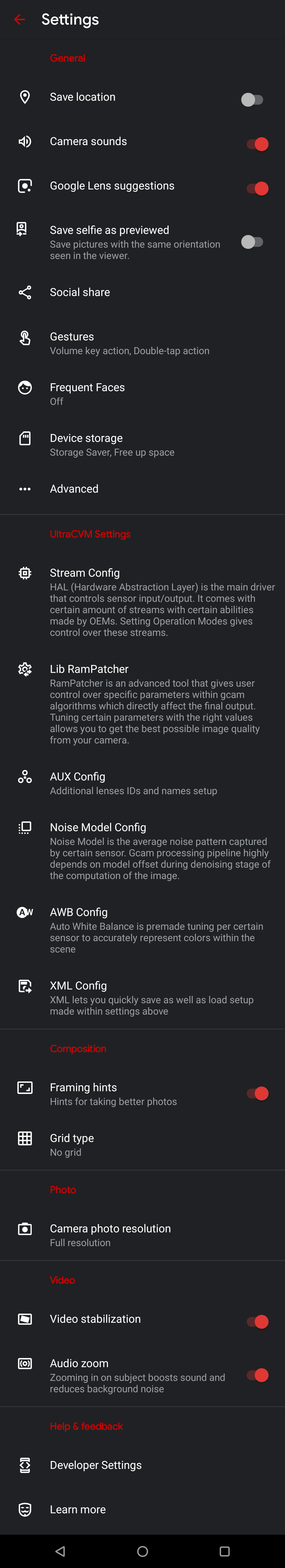 UltraCVM GCam 8 Settings