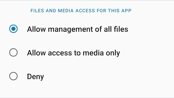 Allow management of all files